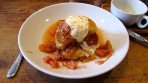 French Toast w/ Poached Rhubarb
