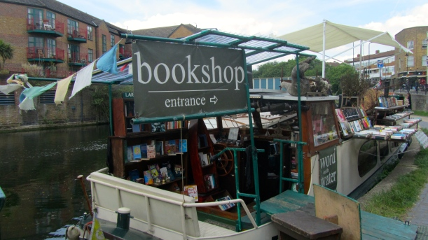 the floating bookshop. regent's canal