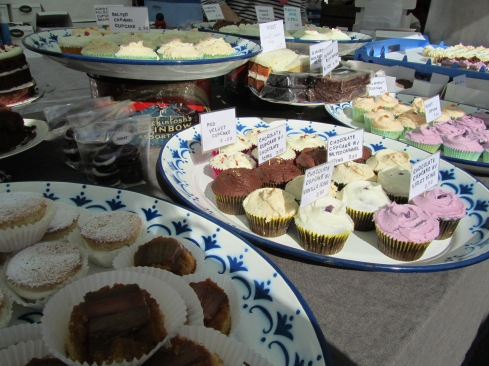 selection of violet cakes